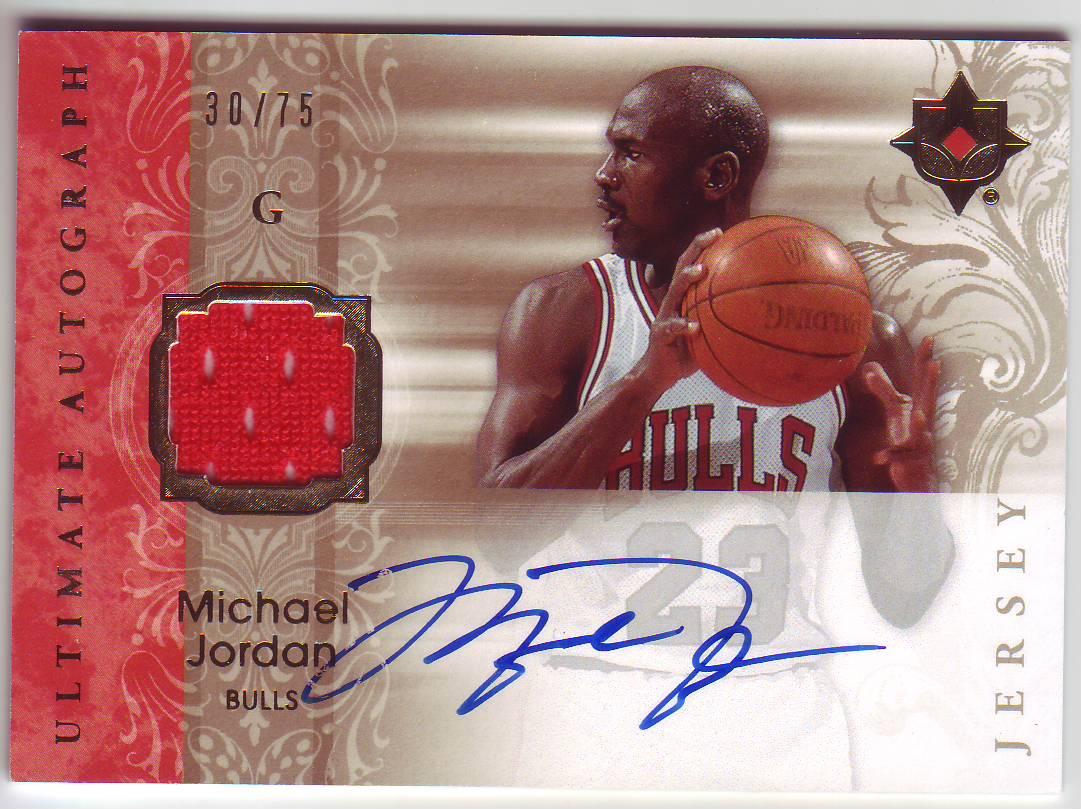 new arrival 1855e 2a9c2 Basketball Card Michael Jordan Autographed - The Hawke's ...